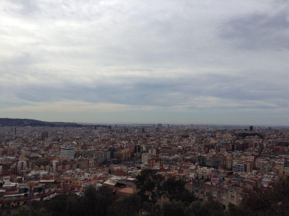 Vue de Barcelone du Park Güell